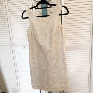 Lilly Pulitzer Sophia cream beaded dress sz 0